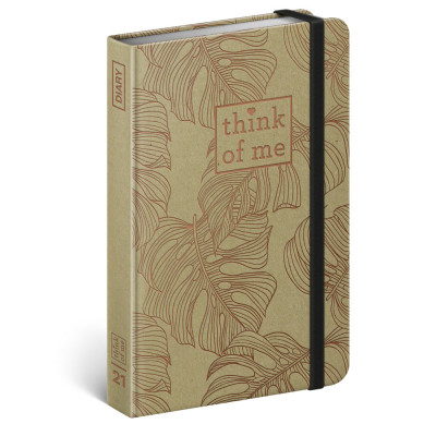 Diář týdenní B6 2021 - Craft Monstera – Think of me